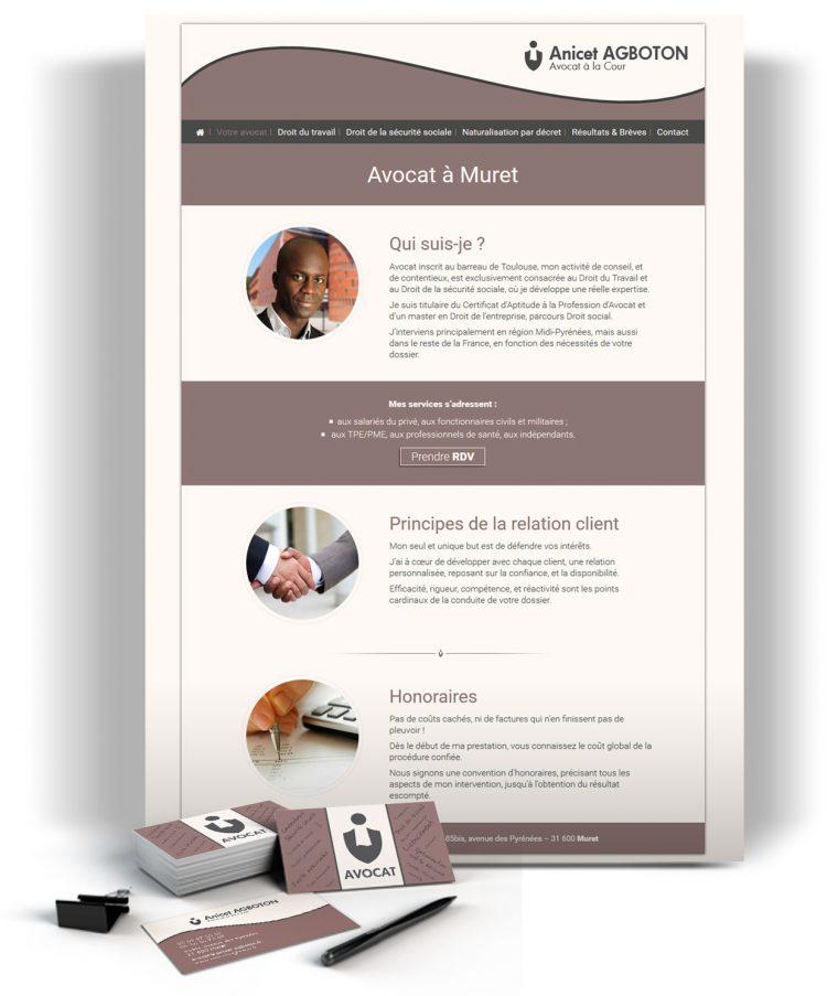 Site internet cabinet d'avocat Toulouse
