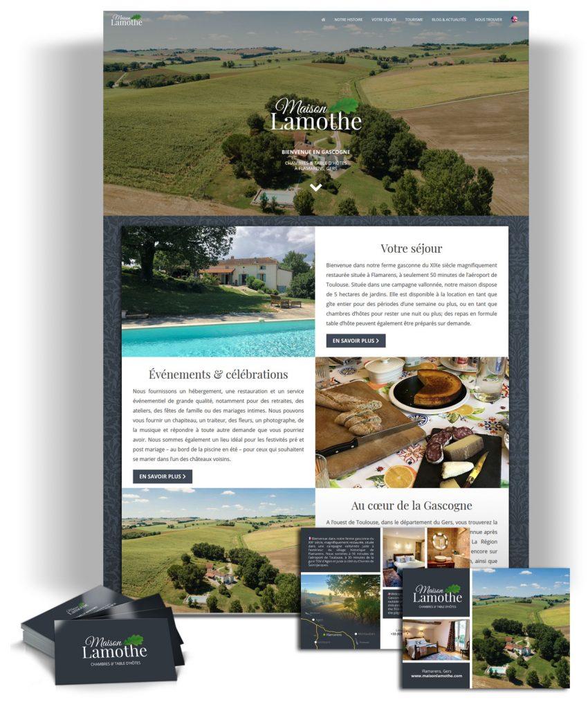 Site internet d'un gîte dans le Gers