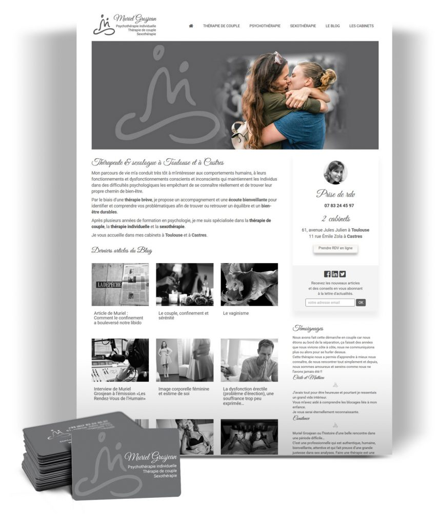 Site internet pour thérapeute à Toulouse